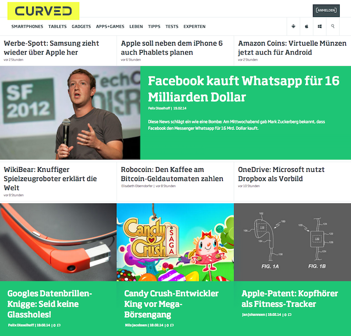 Curved Frontpage